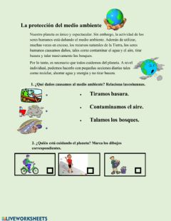 Interactive worksheet Proteccion del ambiente