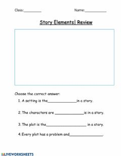 Interactive worksheet Story Elements Review