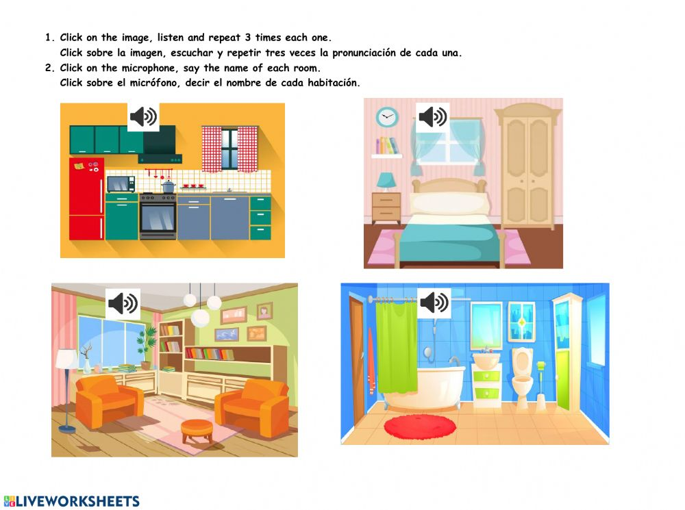 Parts Of The House Interactive Activity For Preschool