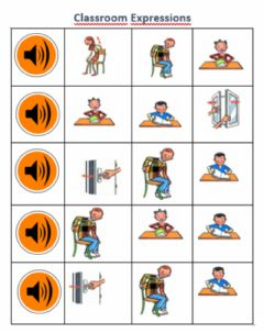 Interactive worksheet Classroom expressions