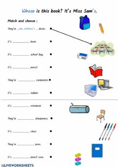 Interactive worksheet Possesive case 2