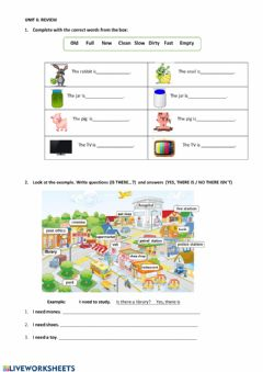 Interactive worksheet The city