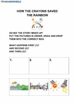 Interactive worksheet How the crayons saved the rainbow