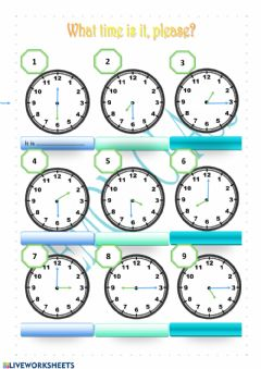 Interactive worksheet What time is it