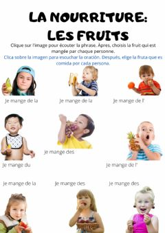 Interactive worksheet La nourriture: les fruits