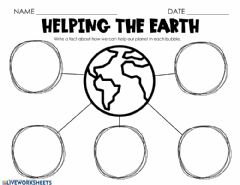 Interactive worksheet Things you can do to save the planet