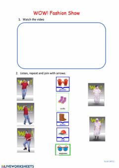 Interactive worksheet Chothes