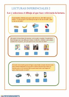 Interactive worksheet Lecturas inferenciales 2
