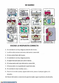 Interactive worksheet MI BARRIO