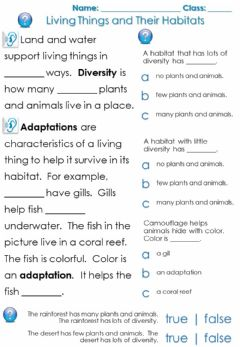 Ficha interactiva Living Things and Their Habitats - Page 199