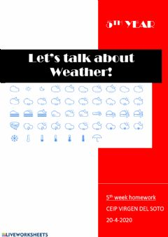 Ficha interactiva Weather instruments vocabulary