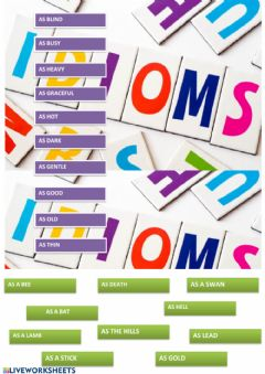 Interactive worksheet Comparative idioms
