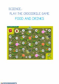 Interactive worksheet Crocodile game