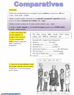 Interactive worksheet Comparatives 2