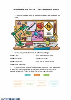 Interactive worksheet Sons de la R i consonats mudes