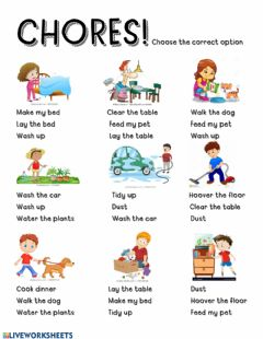 Interactive worksheet Household chores