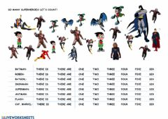 Interactive worksheet Count the superheroes