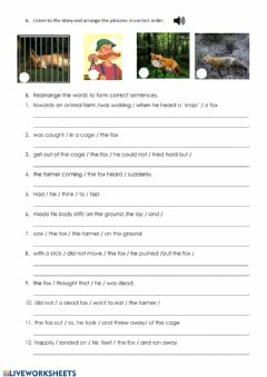 Interactive worksheet Listen and Arrange the pictures