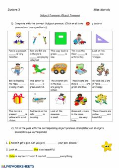 Interactive worksheet Subject & Object pronouns