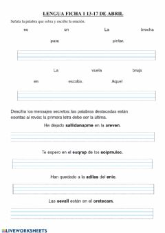 Interactive worksheet Escritura
