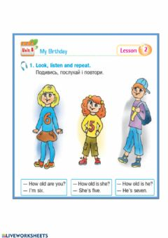 Interactive worksheet Birthday