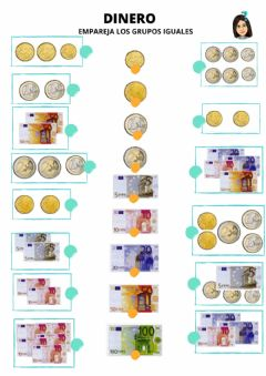 Interactive worksheet Equivalencias de dinero