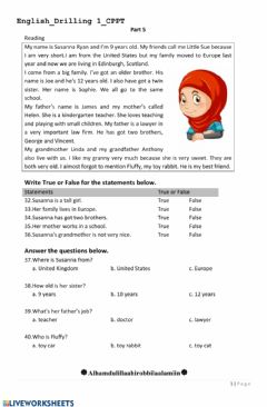 Interactive worksheet Cppt drill part 5