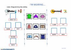 Interactive worksheet Chothes winter and summer