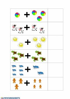 Interactive worksheet Suma