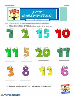 Interactive worksheet Chiffres