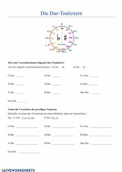Interactive worksheet Qintenzirkel