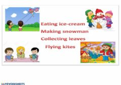 Interactive worksheet Changing seasons