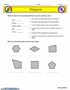 Interactive worksheet Attributes of Polygons
