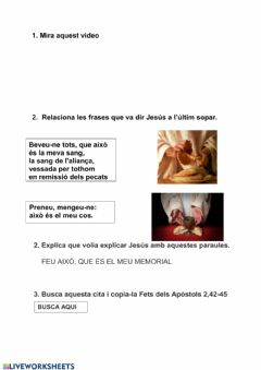 Interactive worksheet Religió 5è 1
