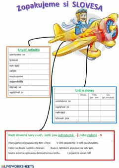 Interactive worksheet Slovesa