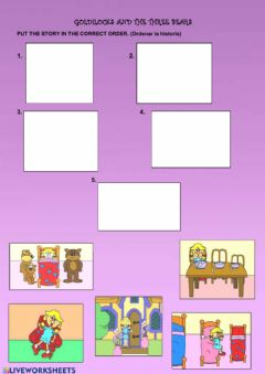 Interactive worksheet Goldilocks