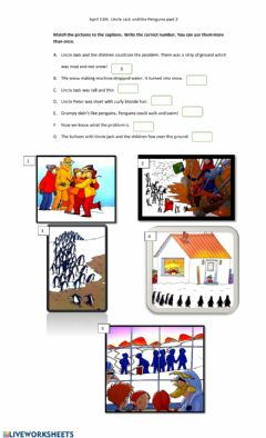 Ficha interactiva Uncle jack and the emperor penguins part 2
