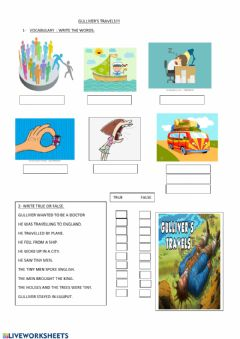 Interactive worksheet Gulliver's travels