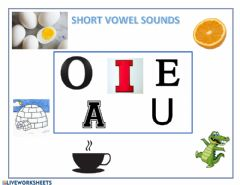 Interactive worksheet Short vowel sounds