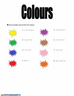 Interactive worksheet Colour