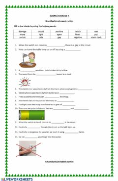 Interactive worksheet Electricity 4