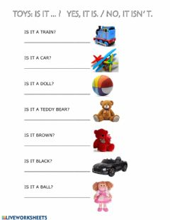 Interactive worksheet Toys: is it...?