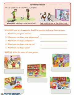 Interactive worksheet Questions with can