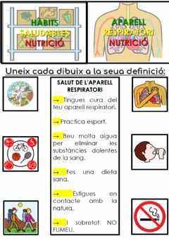 Interactive worksheet Hàbits saludables de l'aparell respiratori