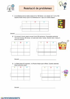 Interactive worksheet Resolució de probemes 3
