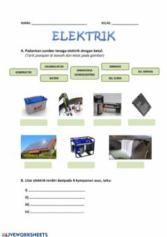 Interactive worksheet Elektrik