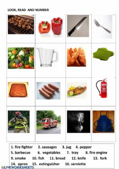Interactive worksheet Dad-s a firefighter vocabulary