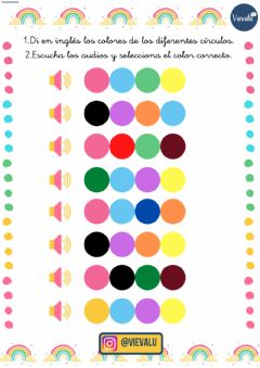 Interactive worksheet Colores en inglés