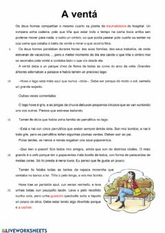 Interactive worksheet A ventá
