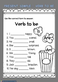 Interactive worksheet Verb to Be (present)